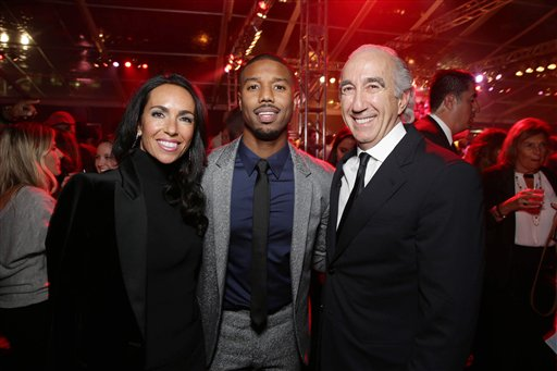 <div class='meta'><div class='origin-logo' data-origin='none'></div><span class='caption-text' data-credit='Eric Charbonneau/Invision/AP'>Exclusive - Nadine Barber, Michael B. Jordan and Gary Barber, Chairman and Chief Executive Officer of Metro-Goldwyn-Mayer Inc.</span></div>