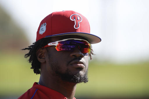 "<div class=""meta image-caption""><div class=""origin-logo origin-image ap""><span>AP</span></div><span class=""caption-text"">Philadelphia Phillies' Odubel Herrera looks over the field during a spring training baseball workout Thursday, Feb. 16, 2017, in Clearwater, Fla. (AP)</span></div>"