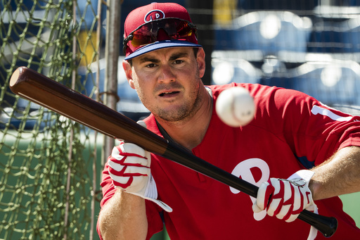 "<div class=""meta image-caption""><div class=""origin-logo origin-image ap""><span>AP</span></div><span class=""caption-text"">Philadelphia Phillies' Tommy Joseph practices bunting ahead of a spring training baseball game against the New York Yankees Saturday, Feb. 25, 2017, in Clearwater, Fla. (AP)</span></div>"