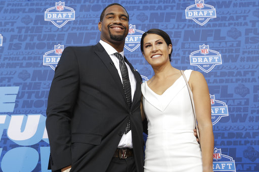 <div class='meta'><div class='origin-logo' data-origin='AP'></div><span class='caption-text' data-credit='AP'>Alabama's Jonathan Allen arrives for the first round of the 2017 NFL football draft, Thursday, April 27, 2017, in Philadelphia. (AP Photo/Julio Cortez)</span></div>
