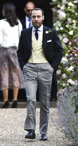 "<div class=""meta image-caption""><div class=""origin-logo origin-image none""><span>none</span></div><span class=""caption-text"">James Middleton arrives for the wedding of his sister Pippa Middleton and James Matthews at St Mark's Church in Englefield, England, Saturday, May 20, 2017. (AP)</span></div>"