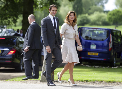 "<div class=""meta image-caption""><div class=""origin-logo origin-image none""><span>none</span></div><span class=""caption-text"">Swiss tennis player Roger Federer and his wife Mirka arrive ahead of the wedding of Pippa Middleton and James Matthews, Saturday, May 20, 2017. (AP)</span></div>"