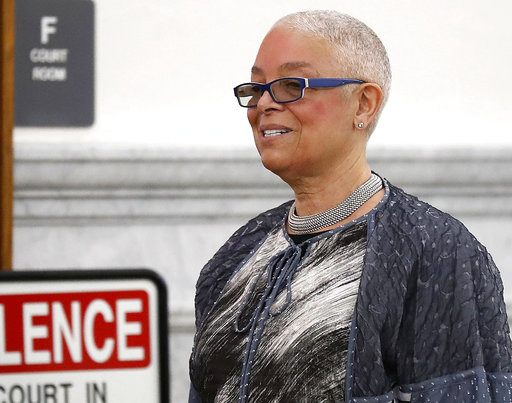 <div class='meta'><div class='origin-logo' data-origin='none'></div><span class='caption-text' data-credit='AP'>Camille Cosby, wife of Bill Cosby, enters the courtroom for Bill Cosby's sexual assault trial, June 12, 2017. (David Maialetti/The Philadelphia Inquirer via AP, Pool)</span></div>