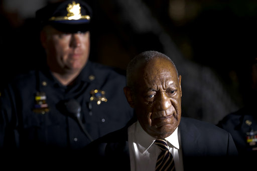 <div class='meta'><div class='origin-logo' data-origin='AP'></div><span class='caption-text' data-credit='(AP Photo/Matt Slocum)'>Bill Cosby leaves the Montgomery County Courthouse during his sexual assault trial, Wednesday, June 14, 2017, in Norristown, Pa.</span></div>