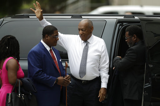 <div class='meta'><div class='origin-logo' data-origin='AP'></div><span class='caption-text' data-credit='(AP Photo/Matt Slocum)'>Bill Cosby arrives at the Montgomery County Courthouse during his sexual assault trial, Friday, June 16, 2017, in Norristown, Pa.</span></div>
