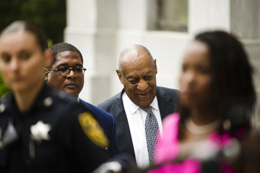<div class='meta'><div class='origin-logo' data-origin='AP'></div><span class='caption-text' data-credit='(AP Photo/Matt Rourke)'>Bill Cosby arrives for his sexual assault trial at the Montgomery County Courthouse in Norristown, Pa., Friday, June 16, 2017.</span></div>