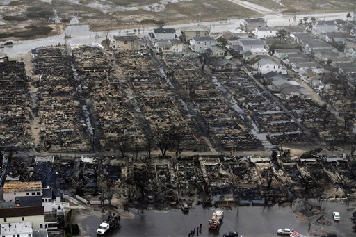 <div class='meta'><div class='origin-logo' data-origin='none'></div><span class='caption-text' data-credit='AP'>This Oct. 30, 2012 file aerial photo shows burned-out homes in the Breezy Point section of the Queens borough New York.</span></div>