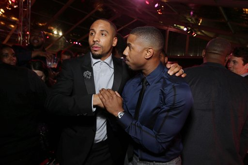 <div class='meta'><div class='origin-logo' data-origin='none'></div><span class='caption-text' data-credit='Eric Charbonneau/Invision/AP'>Exclusive - Andre Ward and Michael B. Jordan seen at Los Angeles World Premiere of New Line Cinema?s and Metro-Goldwyn-Mayer Pictures' 'Creed'</span></div>