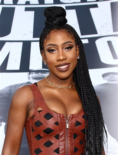 <div class='meta'><div class='origin-logo' data-origin='AP'></div><span class='caption-text' data-credit='John Salangsang/Invision/AP'>Sevyn Streeter arrives at the Los Angeles premiere of &#34;Straight Outta Compton&#34; at the Microsoft Theater on Monday, Aug. 10, 2015.</span></div>