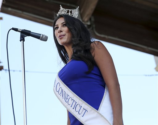 <div class='meta'><div class='origin-logo' data-origin='none'></div><span class='caption-text' data-credit='AP'>Miss Connecticut, Alyssa Rae Taglia is introduced during Miss America Pageant arrival ceremonies Tuesday, Aug. 30, 2016, in Atlantic City.</span></div>