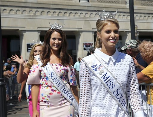 <div class='meta'><div class='origin-logo' data-origin='none'></div><span class='caption-text' data-credit='AP'>Miss South Carolina, Rachel Wyatt is introduced during Miss America Pageant arrival ceremonies Tuesday, Aug. 30, 2016, in Atlantic City.</span></div>