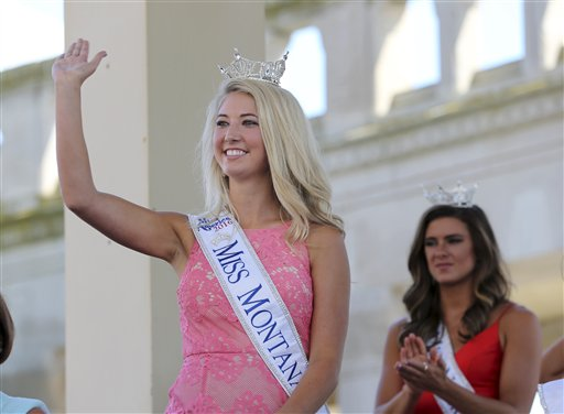 <div class='meta'><div class='origin-logo' data-origin='none'></div><span class='caption-text' data-credit='AP'>Miss Montana, Lauren Scofield waves as she is introduced during Miss America Pageant arrival ceremonies Tuesday, Aug. 30, 2016, in Atlantic City.</span></div>