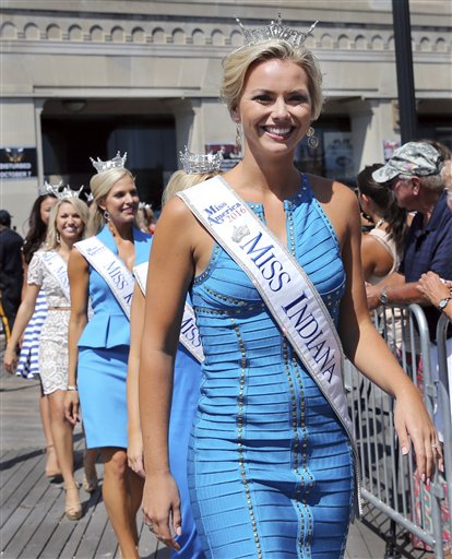 <div class='meta'><div class='origin-logo' data-origin='none'></div><span class='caption-text' data-credit='AP'>Miss Indiana, Brianna DeCamp is introduced during Miss America Pageant arrival ceremonies Tuesday, Aug. 30, 2016, in Atlantic City.</span></div>