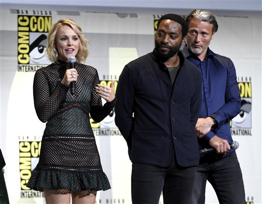 <div class='meta'><div class='origin-logo' data-origin='AP'></div><span class='caption-text' data-credit='Photo by Chris Pizzello/Invision/AP'>Rachel McAdams, from left, Chiwetel Ejiofor, and Mads Mikkelsen attend the &#34;Dr. Strange&#34; panel on day 3 of Comic-Con International on Saturday, July 23, 2016, in San Diego.</span></div>