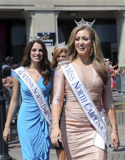 <div class='meta'><div class='origin-logo' data-origin='none'></div><span class='caption-text' data-credit='AP'>Miss North Carolina, McKenzie Faggart is introduced during Miss America Pageant arrival ceremonies Tuesday, Aug. 30, 2016, in Atlantic City.</span></div>