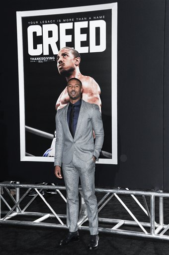 <div class='meta'><div class='origin-logo' data-origin='none'></div><span class='caption-text' data-credit='Richard Shotwell/Invision/AP'>Actor Michael B. Jordan attends the LA Premiere of &#34;Creed&#34; held at the Regency Village Theater on Thursday, Nov. 19, 2015, in Los Angeles. (Photo by Richard Shotwell/Invision/AP)</span></div>