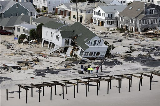 <div class='meta'><div class='origin-logo' data-origin='none'></div><span class='caption-text' data-credit='AP'>In this aerial photo, people survey destruction left in the wake of superstorm Sandy, Wednesday, Oct. 31, 2012, in Seaside Heights, N.J. (AP Photo/Mike Groll)</span></div>