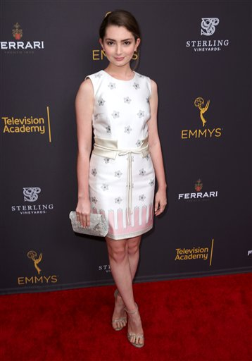 "<div class=""meta image-caption""><div class=""origin-logo origin-image ap""><span>AP</span></div><span class=""caption-text"">Emily Robinson arrives at the Television Academy's Performers Emmy Celebration at the Montage Beverly Hills on Monday, Aug. 22, 2016. (Matt Sayles/Invision/AP)</span></div>"