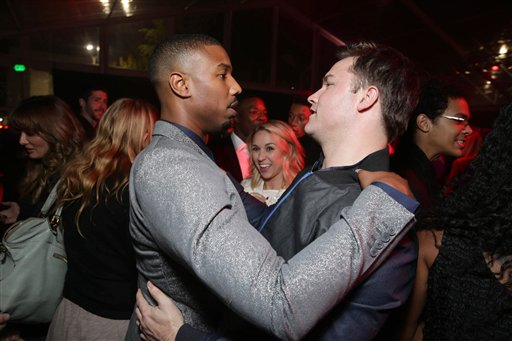 <div class='meta'><div class='origin-logo' data-origin='none'></div><span class='caption-text' data-credit='Eric Charbonneau/Invision/AP'>Exclusive - Michael B. Jordan and Scott Porter seen at Los Angeles World Premiere of New Line Cinema?s and Metro-Goldwyn-Mayer Pictures' 'Creed'</span></div>