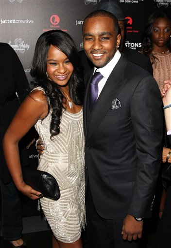 <div class='meta'><div class='origin-logo' data-origin='none'></div><span class='caption-text' data-credit='Donald Traill/Invision/AP'>Bobbi Kristina Brown and Nick Gordon attend the premiere party for &#34;The Houstons On Our Own&#34; at the Tribeca Grand hotel on Monday, Oct. 22, 2012 in New York.</span></div>