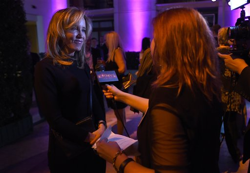 "<div class=""meta image-caption""><div class=""origin-logo origin-image ap""><span>AP</span></div><span class=""caption-text"">Felicity Huffman, left, participates in an interview at the Television Academy's Performers Emmy Celebration at the Montage Beverly Hills on Monday, Aug. 22, 2016. (Jordan Strauss/Invision/AP)</span></div>"