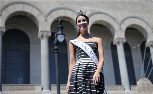 "<div class=""meta image-caption""><div class=""origin-logo origin-image none""><span>none</span></div><span class=""caption-text"">Miss Alaska, Kendall Bautista is introduced during Miss America Pageant arrival ceremonies Tuesday, Aug. 30, 2016, in Atlantic City. (AP)</span></div>"