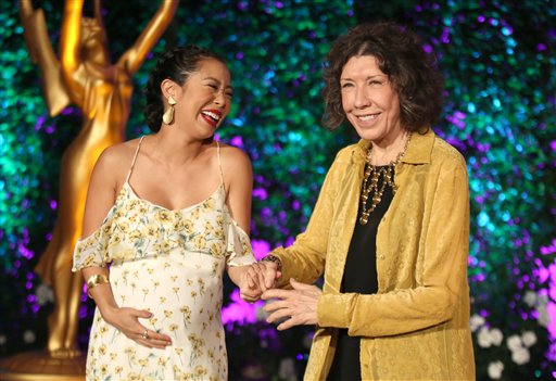 "<div class=""meta image-caption""><div class=""origin-logo origin-image ap""><span>AP</span></div><span class=""caption-text"">Michelle Ang, left, and Lily Tomlin attend the Television Academy's Performers Emmy Celebration at the Montage Beverly Hills on Monday, Aug. 22, 2016. (Invision for the Television Academy)</span></div>"