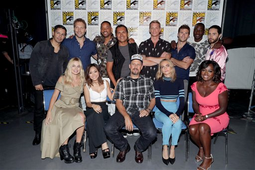 "<div class=""meta image-caption""><div class=""origin-logo origin-image none""><span>none</span></div><span class=""caption-text"">Cast and crew of ""Suicide Squad"" seen at Warner Bros. Presentation at 2016 Comic-Con on Saturday, July 23, 2016, in San Diego, Calif. (Eric Charbonneau/Invision/AP)</span></div>"