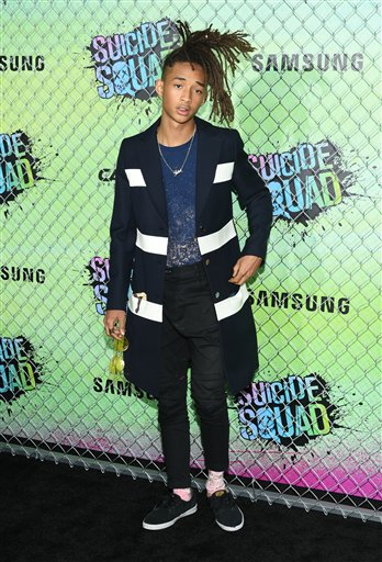 "<div class=""meta image-caption""><div class=""origin-logo origin-image none""><span>none</span></div><span class=""caption-text"">Jaden Smith attends the world premiere of ""Suicide Squad"" at the Beacon Theatre on Monday, Aug. 1, 2016, in New York. (Photo by Evan Agostini/Invision/AP) (Evan Agostini/Invision/AP)</span></div>"
