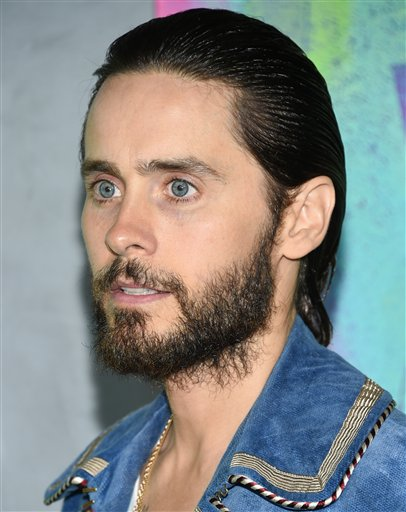 "<div class=""meta image-caption""><div class=""origin-logo origin-image none""><span>none</span></div><span class=""caption-text"">Actor Jared Leto attends the world premiere of ""Suicide Squad"" at the Beacon Theatre on Monday, Aug. 1, 2016, in New York. (Photo by Evan Agostini/Invision/AP) (Evan Agostini/Invision/AP)</span></div>"