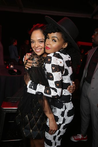 <div class='meta'><div class='origin-logo' data-origin='none'></div><span class='caption-text' data-credit='Eric Charbonneau/Invision/AP'>Exclusive - Tessa Thompson and Janelle Monae seen at Los Angeles World Premiere of New Line Cinema?s and Metro-Goldwyn-Mayer Pictures' 'Creed'</span></div>