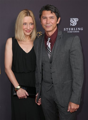"<div class=""meta image-caption""><div class=""origin-logo origin-image ap""><span>AP</span></div><span class=""caption-text"">Lou Diamond Phillips, left, and Yvonne Boismier Phillips arrive at the Television Academy's Performers Emmy Celebration at the Montage Beverly Hills on Monday, Aug. 22, 2016. (Matt Sayles/Invision/AP)</span></div>"