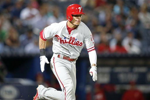 "<div class=""meta image-caption""><div class=""origin-logo origin-image ap""><span>AP</span></div><span class=""caption-text"">Philadelphia Phillies second baseman Cesar Hernandez (16) runs to first in the fifth inning of a baseball game against the Atlanta Braves, Thursday, Sept. 29, 2016, in Atlanta. (AP)</span></div>"