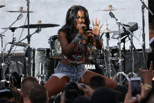 <div class='meta'><div class='origin-logo' data-origin='AP'></div><span class='caption-text' data-credit='John Salangsang/Invision/AP'>Sevyn Streeter performs on stage at the &#34;Furious 7&#34; Takeover held at the Revolt Live Studios on Wednesday, April 1, 2015, in Los Angeles.</span></div>