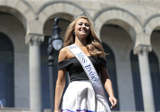 <div class='meta'><div class='origin-logo' data-origin='none'></div><span class='caption-text' data-credit='AP'>Miss Idaho, Kylee Solberg is introduced during Miss America Pageant arrival ceremonies Tuesday, Aug. 30, 2016, in Atlantic City.</span></div>