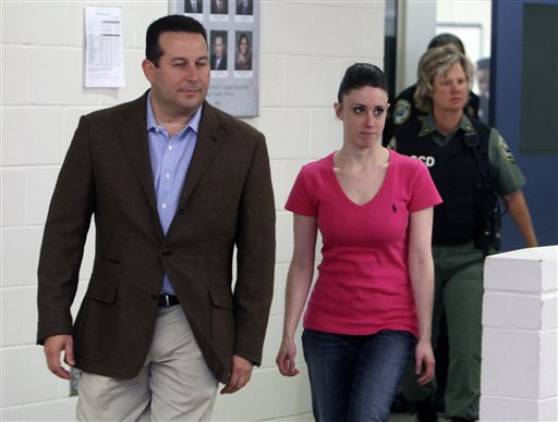 """<div class=""""meta image-caption""""><div class=""""origin-logo origin-image none""""><span>none</span></div><span class=""""caption-text"""">In this Sunday, July 17, 2011 file photo, Casey Anthony, front right, walks out of the Orange County Jail with her attorney Jose Baez. (AP)</span></div>"""