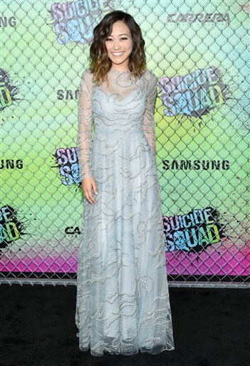 "<div class=""meta image-caption""><div class=""origin-logo origin-image none""><span>none</span></div><span class=""caption-text"">Karen Fukuhara attends the world premiere of ""Suicide Squad"" at the Beacon Theatre on Monday, Aug. 1, 2016, in New York. (Photo by Evan Agostini/Invision/AP) (Evan Agostini/Invision/AP)</span></div>"