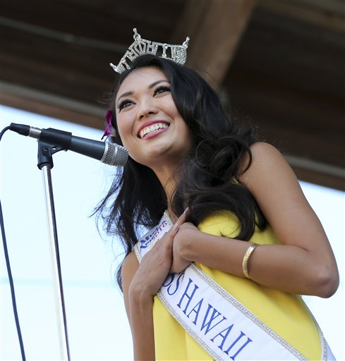 <div class='meta'><div class='origin-logo' data-origin='none'></div><span class='caption-text' data-credit='AP'>Miss Hawaii, Allison Carol Nanea Chu is introduced during Miss America Pageant arrival ceremonies Tuesday, Aug. 30, 2016, in Atlantic City.</span></div>