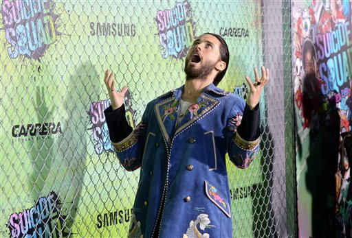 "<div class=""meta image-caption""><div class=""origin-logo origin-image none""><span>none</span></div><span class=""caption-text"">Jared Leto attends the world premiere of ""Suicide Squad"" at the Beacon Theatre on Monday, Aug. 1, 2016, in New York. (Photo by Evan Agostini/Invision/AP) (Evan Agostini/Invision/AP)</span></div>"