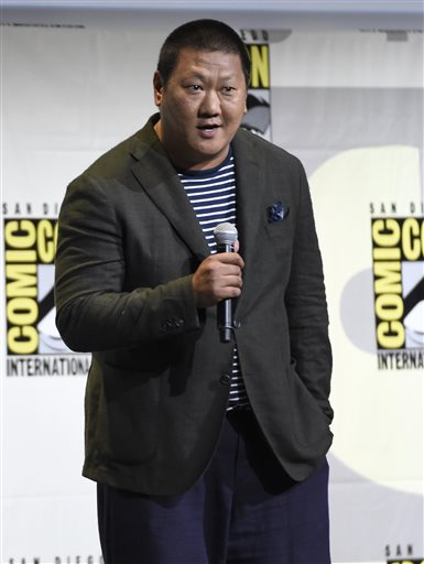 <div class='meta'><div class='origin-logo' data-origin='AP'></div><span class='caption-text' data-credit='Photo by Chris Pizzello/Invision/AP'>Benedict Wong speaks at the &#34;Dr. Strange&#34; panel on day 3 of Comic-Con International on Saturday, July 23, 2016, in San Diego.</span></div>