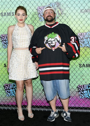 "<div class=""meta image-caption""><div class=""origin-logo origin-image none""><span>none</span></div><span class=""caption-text"">Harley Quinn Smith, left, and Kevin Smith attend the world premiere of ""Suicide Squad"" at the Beacon Theatre on Monday, Aug. 1, 2016, in New York. (Evan Agostini/Invision/AP)</span></div>"