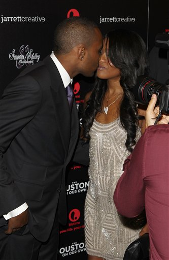 <div class='meta'><div class='origin-logo' data-origin='none'></div><span class='caption-text' data-credit='Donald Traill/Invision/AP'>Nick Gordon and Bobbi Kristina Brown attend the premiere party for &#34;The Houstons On Our Own&#34; at the Tribeca Grand hotel on Monday, Oct. 22, 2012 in New York.</span></div>
