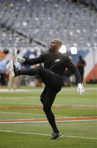 <div class='meta'><div class='origin-logo' data-origin='AP'></div><span class='caption-text' data-credit='AP Photo/Charles Rex Arbogas'>Philadelphia Eagles strong safety Malcolm Jenkins warms up before an NFL football game against the Chicago Bears, Monday, Sept. 19, 2016, in Chicago.</span></div>