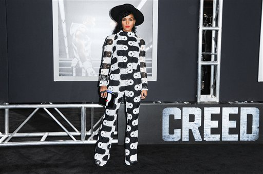<div class='meta'><div class='origin-logo' data-origin='none'></div><span class='caption-text' data-credit='Richard Shotwell/Invision/AP'>Janelle Monae attends the LA Premiere of &#34;Creed&#34; held at the Regency Village Theater on Thursday, Nov. 19, 2015, in Los Angeles. (Photo by Richard Shotwell/Invision/AP)</span></div>