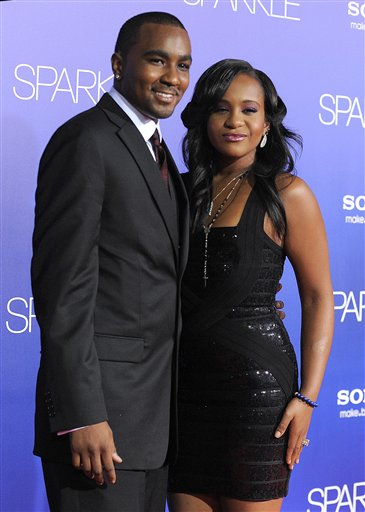 <div class='meta'><div class='origin-logo' data-origin='none'></div><span class='caption-text' data-credit='Jordan Strauss/Invision/AP'>Bobbi Kristina Brown, right, and Nick Gordon attend the Los Angeles premiere of &#34;Sparkle&#34; at Grauman's Chinese Theatre on Thursday, Aug. 16, 2012, in Los Angeles.</span></div>