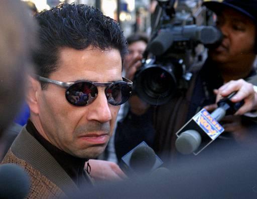 <div class='meta'><div class='origin-logo' data-origin='AP'></div><span class='caption-text' data-credit='ASSOCIATED PRESS'>Joseph &#34;Skinny Joey&#34; Merlino talks to the media Thursday, Feb. 20, 1997, outside the Criminal Justice Center in Philadelphia.</span></div>