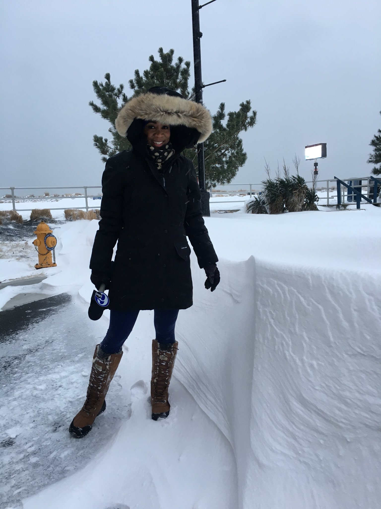 "<div class=""meta image-caption""><div class=""origin-logo origin-image none""><span>none</span></div><span class=""caption-text"">Action News reporter Christie Ileto found snow drifts as tall as she is at the shore.</span></div>"
