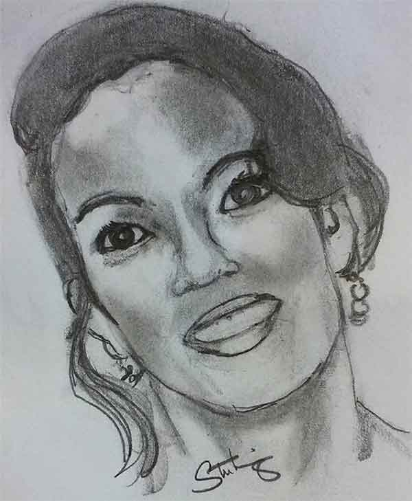 """<div class=""""meta image-caption""""><div class=""""origin-logo origin-image wpvi""""><span>WPVI</span></div><span class=""""caption-text"""">Viewer and artist, Sterling Gray, created this fabulous pencil sketch of Lisa.</span></div>"""