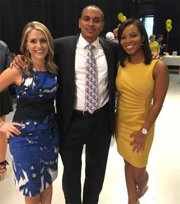 """<div class=""""meta image-caption""""><div class=""""origin-logo origin-image wpvi""""><span>WPVI</span></div><span class=""""caption-text"""">Lisa's son Langston has his hands full with Healthcheck reporter and Registered Nurse Ali Gorman and 4 p.m. news anchor Sharrie Williams.</span></div>"""