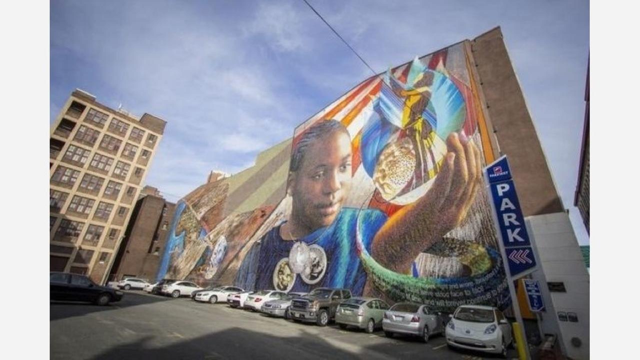 "Joshua Sarantitis' ""Legacy"" mural. | Creative Commons CC0 1.0 Universal Public Domain Dedication"